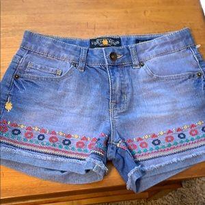 Girls jean shorts. Lucky brand never worn. Riley